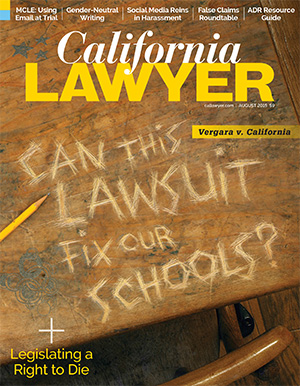 As seen in California Lawyer